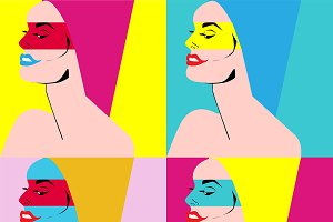 Pop art beauty woman vector