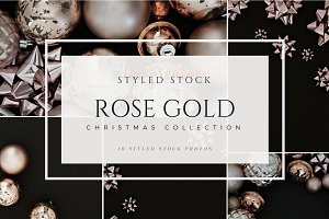 Rose Gold Black Styled Christmas