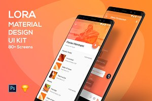 Lora - Material Design UI Kit