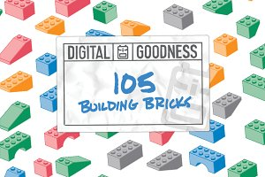 105 Vector Building Bricks