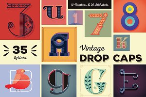 Vintage Drop Caps