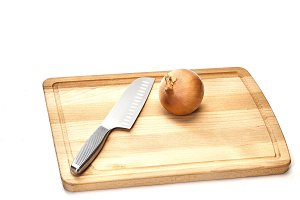 Brown chopping board wood