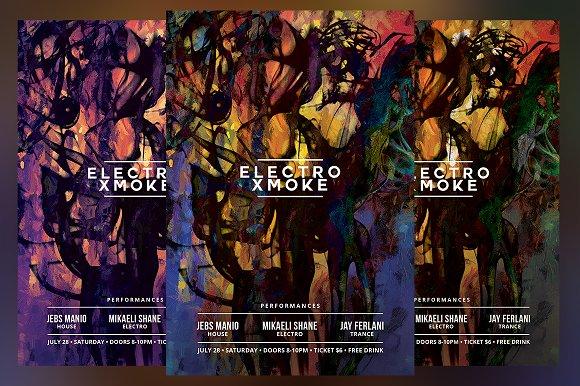 Smoke Xmoke Flyer-Graphicriver中文最全的素材分享平台