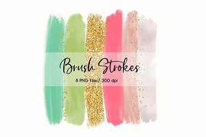 Brush Strokes Clip Art (Summer)