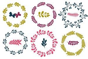 Floral wreaths: vector, jpg, png