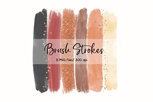Brush Strokes Clip Art (Autumn)