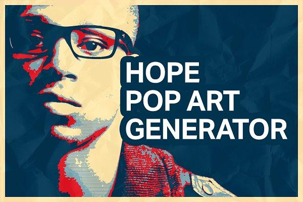 Hope Poster Pop Art Generator