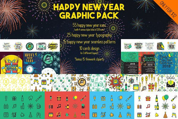 Happy New Year Graphic Pack