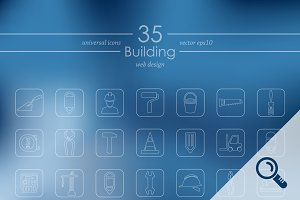 35 BUILDING icons