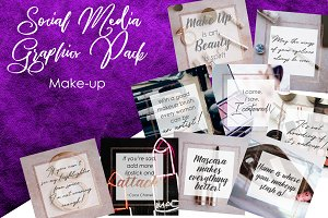 MAKEUP Social Media Graphic Pack