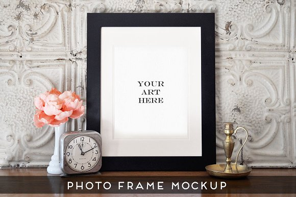 Free Realistic Photo Frame Art Mockup #3