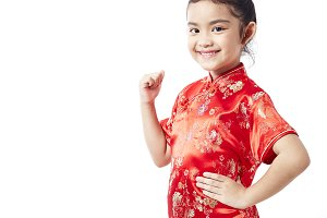 Little asian child Chinese New Year
