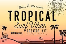 TROPICAL SURF VIBES Creator Kit by Walker Howard in Shapes