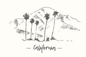 Set of California landscapes