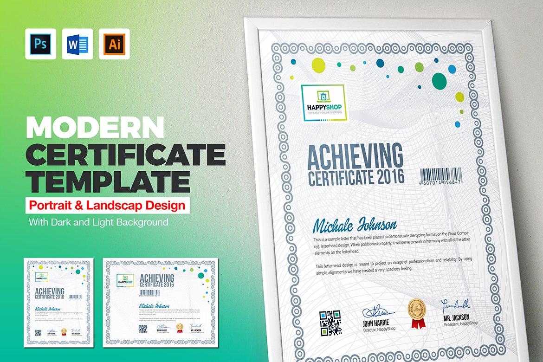 Multipurpose Certificate Template ~ Stationery Templates ~ Creative ...