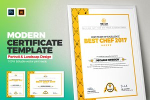Modern certificate template stationery templates creative market yelopaper Images