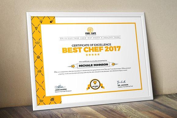 Modern Certificate Template Stationery Templates Creative Market