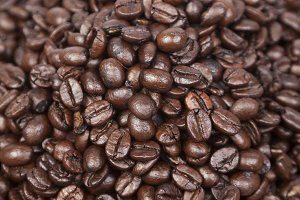 Pile coffee beans