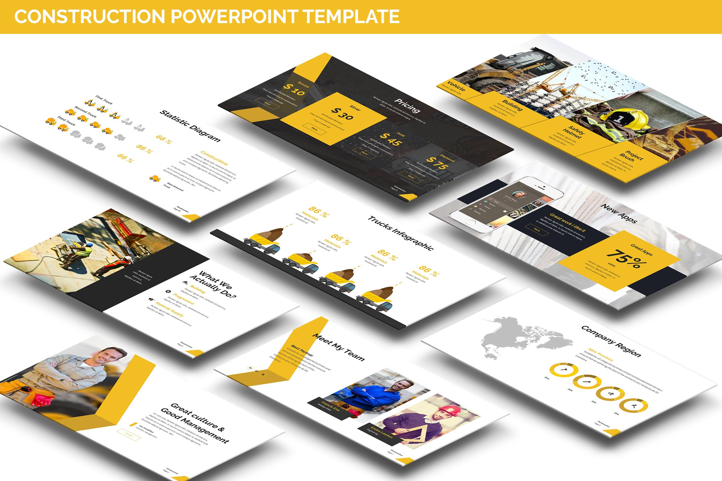 Construction powerpoint presentation presentation templates construction powerpoint presentation presentation templates creative market alramifo Images