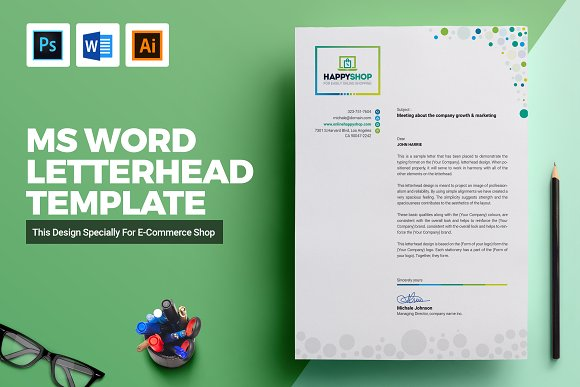 ms word letterhead template stationery