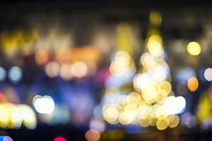 Christmas tree of bokeh light