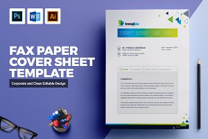 Fax Paper Cover Sheet Template