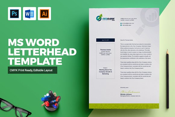 Clean Letterhead Design Template