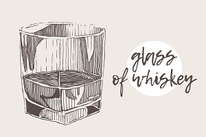 Illustration of a glass of whiskey