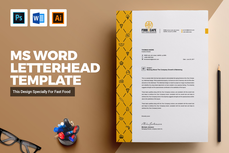 Creative Letterhead Template Word Stationery Templates
