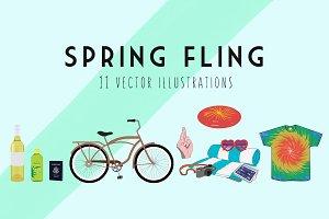 Spring Fling Illustration Kit