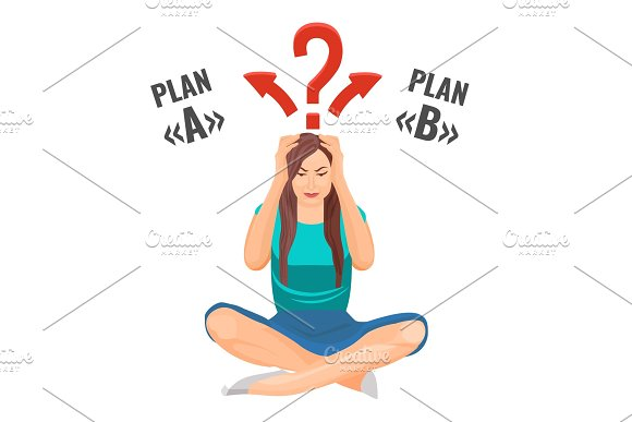 Woman That Sits And Builds Plans In Mind