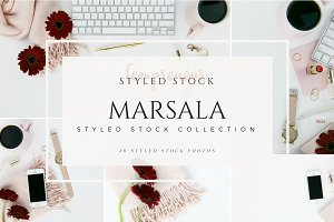 Marsala Autumn Styled Stock Photos
