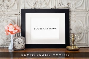 Realistic Photo Frame Art Mockup #4