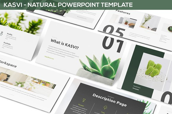 kasvi nature powerpoint template presentation templates
