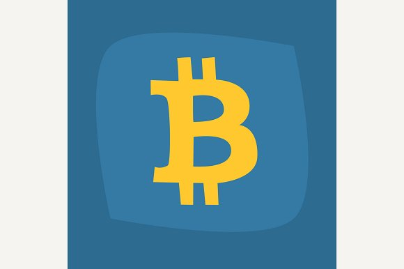 Big B Symbol Of Bitcoin Gold Color