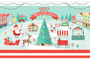 Merry Christmas 2017 Big Festive Fair Promo Poster