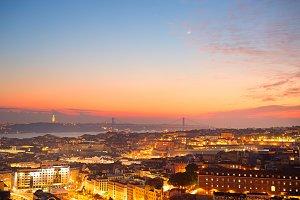 Cityscape of Lisbon, Portugal