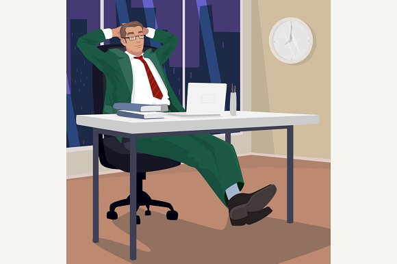Businessman In Evening Relaxed