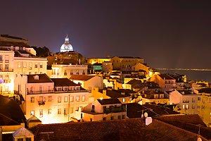 Lisbon at night, Portugal