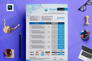 Social Media Agency Invoice Template