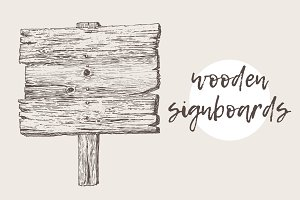 Two illustrations of signboards