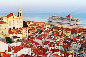 Cruise liner in Lisbon, Portugal