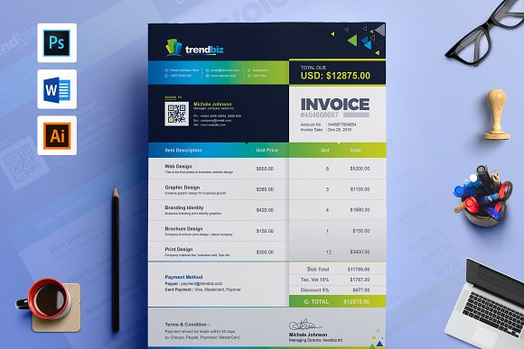 Business Invoice MS Word Template