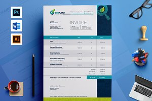 Simple Clean Word Invoice Template