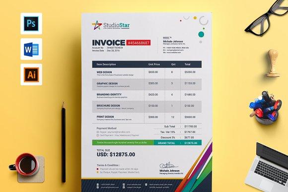 invoice bill cash memo template stationery templates