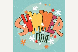 Lettering Summer Time