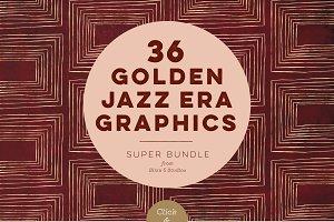 36 Golden Jazz Era Graphics
