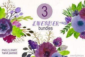 watercolor Flower Bundles