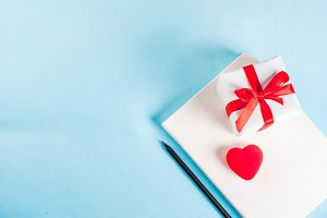 Valentine's day greeting card concep