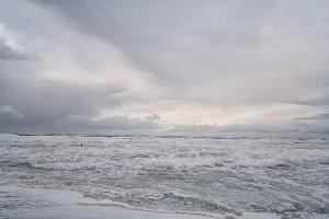 Wild sea in winter